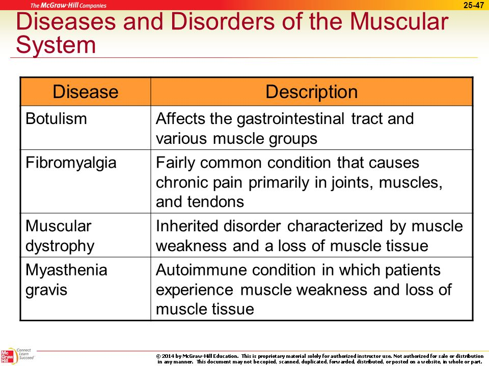 diseases of the muscular system