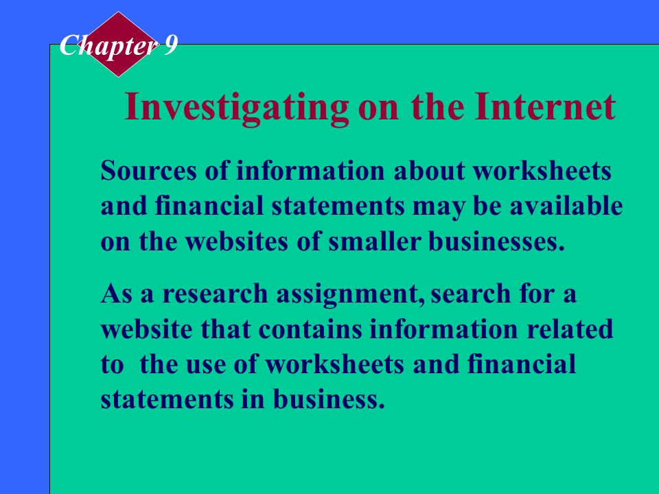 Investigating on the Internet
