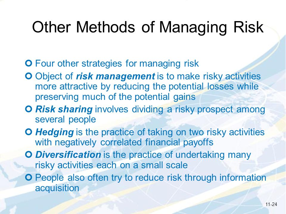 Other Methods of Managing Risk