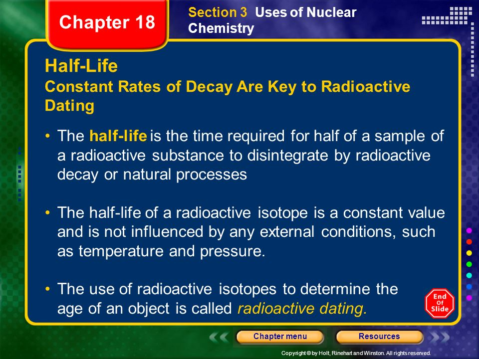 How is radioactive dating used to determine the age of an object quizlet