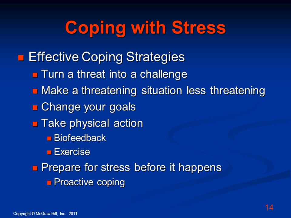 Coping with Stress Effective Coping Strategies