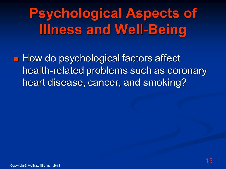 Psychological Aspects of Illness and Well-Being