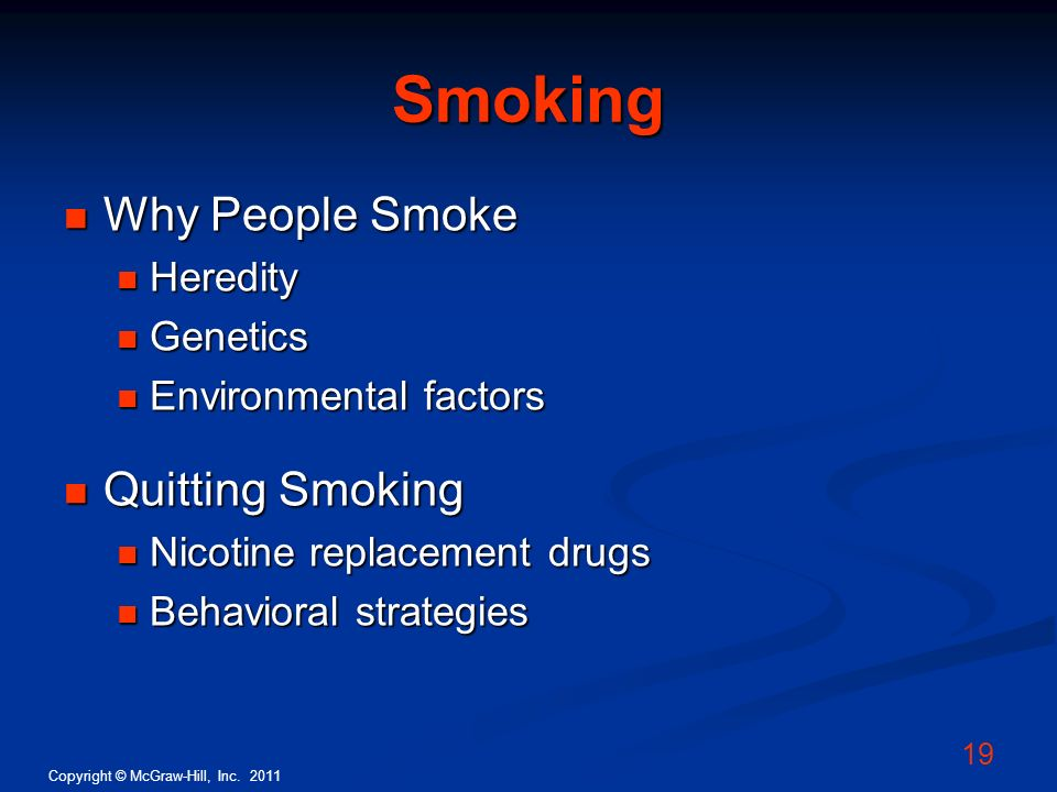 Smoking Why People Smoke Quitting Smoking Heredity Genetics