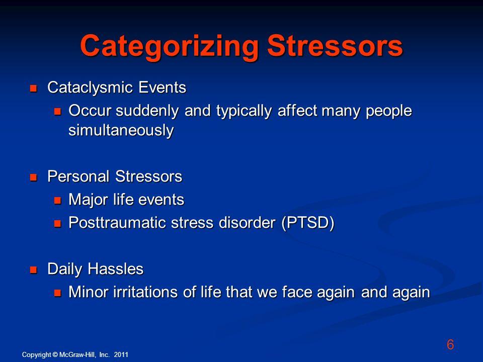 Categorizing Stressors