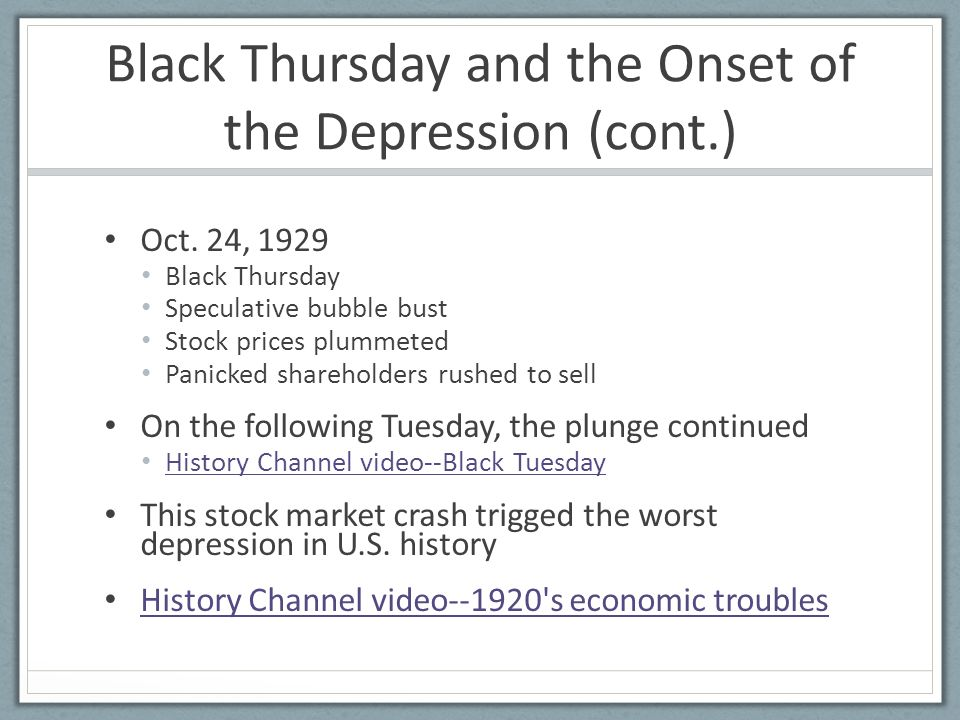 a history of black thursday Black thursday is a term used to refer to negative events which occurred on a thursday it has been used in the following cases: february 6, 1851, black thursday, a.