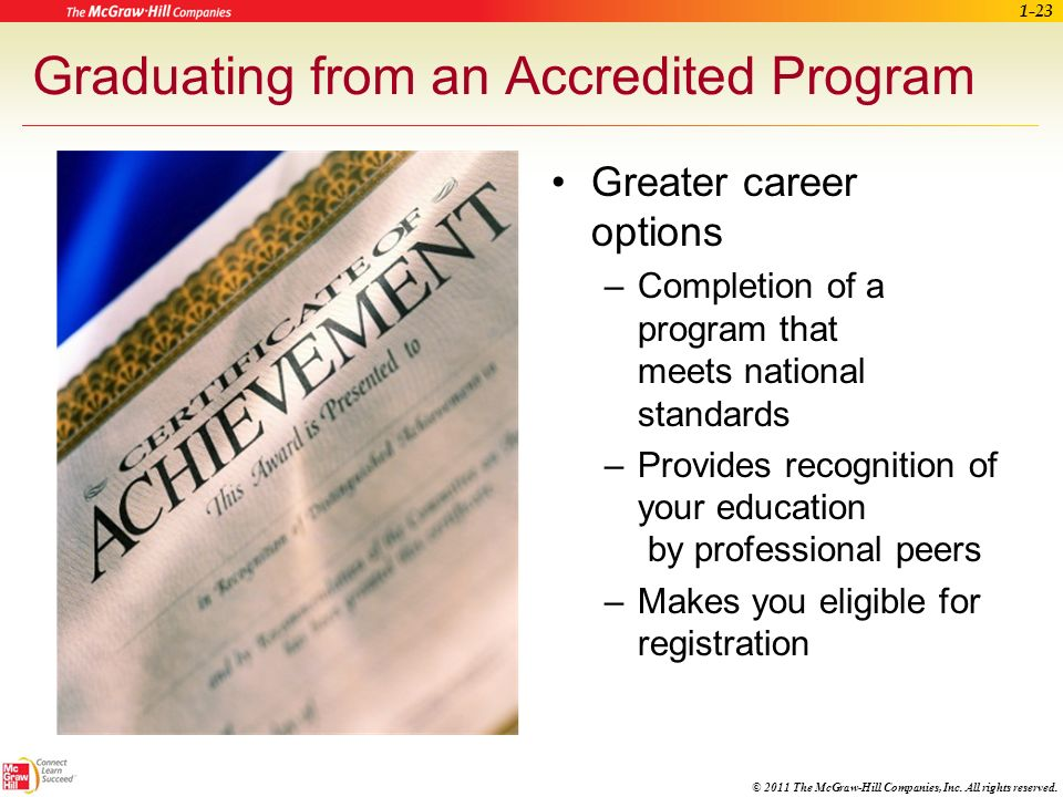 Graduating from an Accredited Program