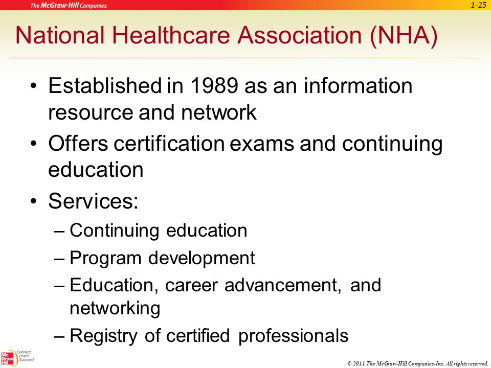 National Healthcare Association (NHA)