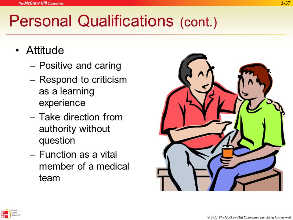 Personal Qualifications (cont.)