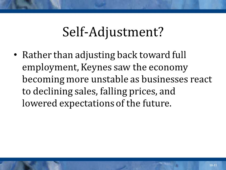 Self-Adjustment
