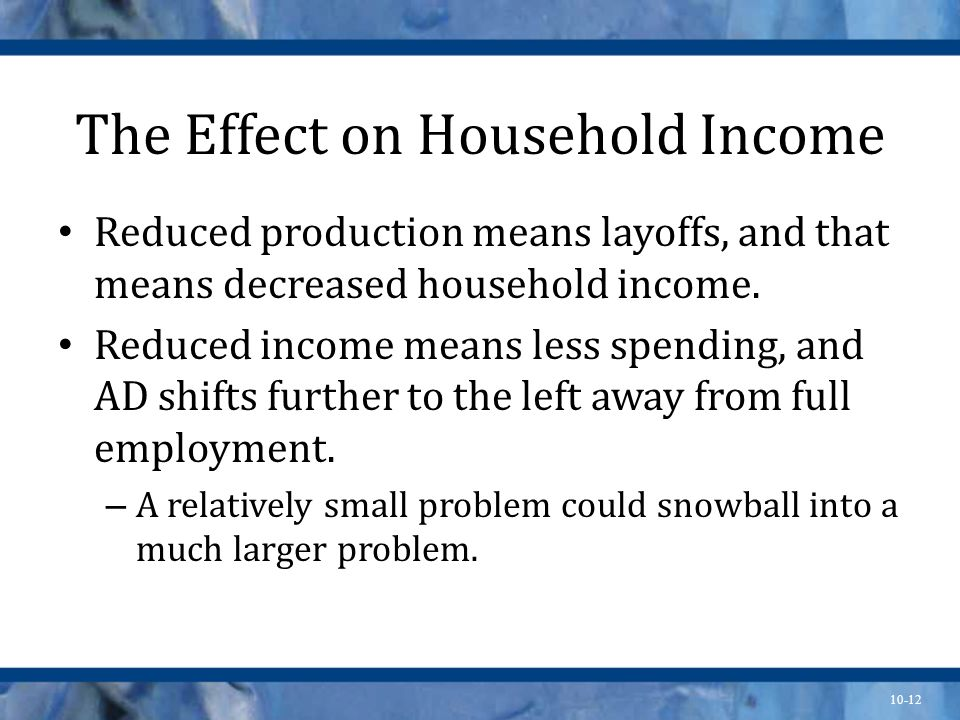 The Effect on Household Income