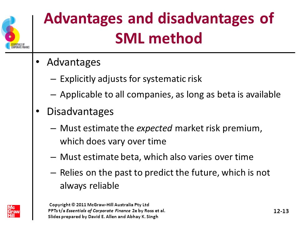 Advantages and disadvantages of SML method