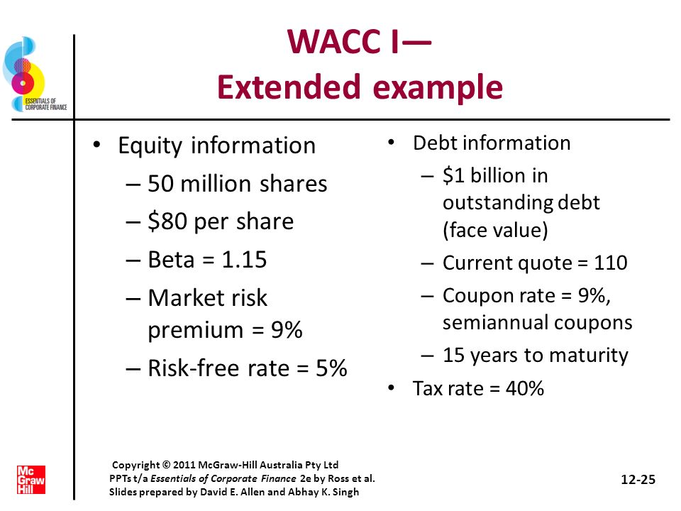 WACC I— Extended example