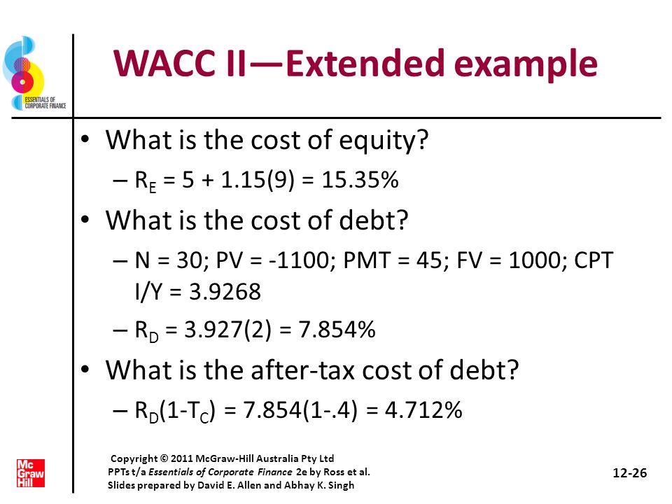 WACC II—Extended example