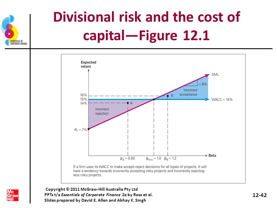Divisional risk and the cost of capital—Figure 12.1