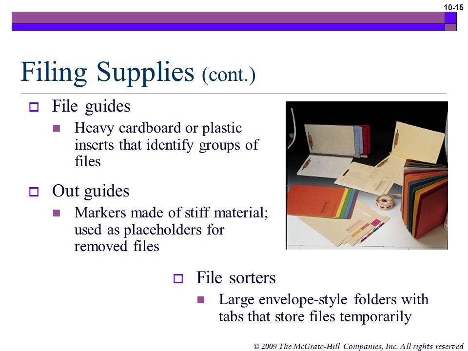 Filing Supplies (cont.)