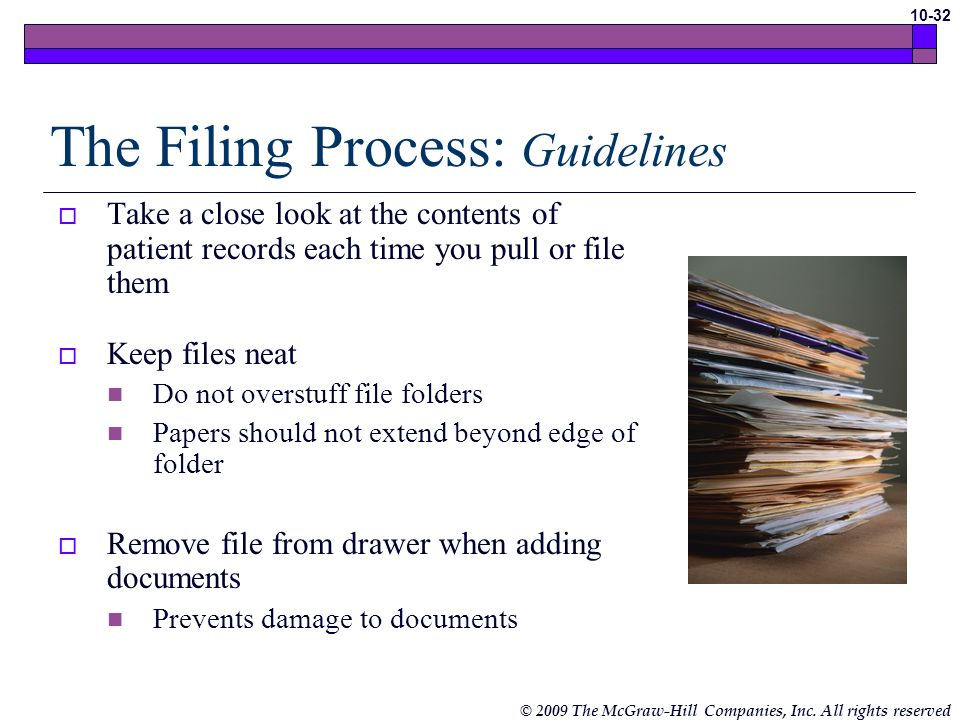 The Filing Process: Guidelines