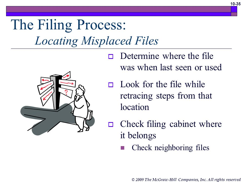 The Filing Process: Locating Misplaced Files