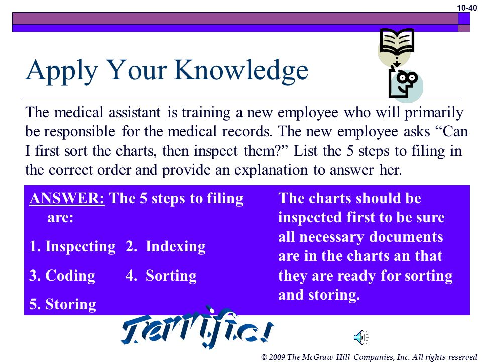 Apply Your Knowledge Terrific!