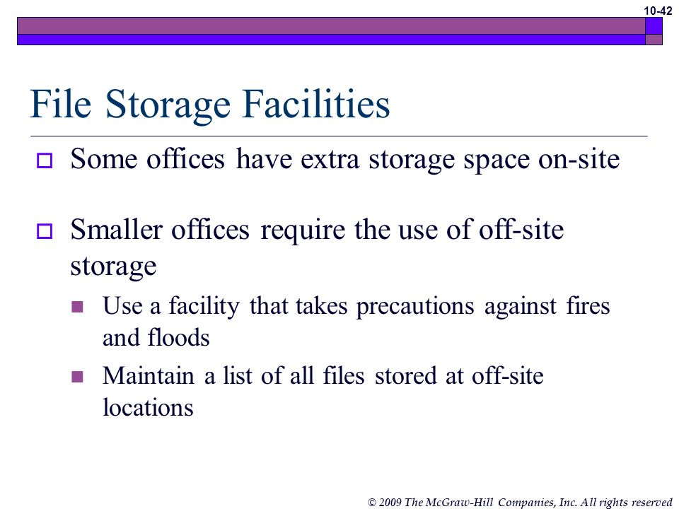 File Storage Facilities