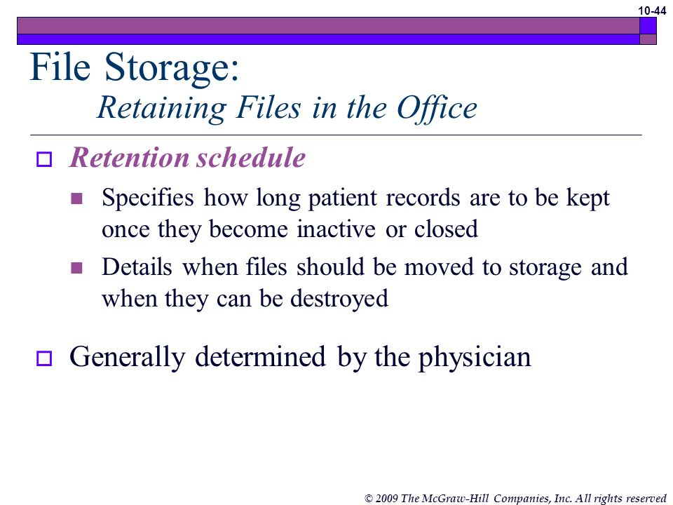 File Storage: Retaining Files in the Office