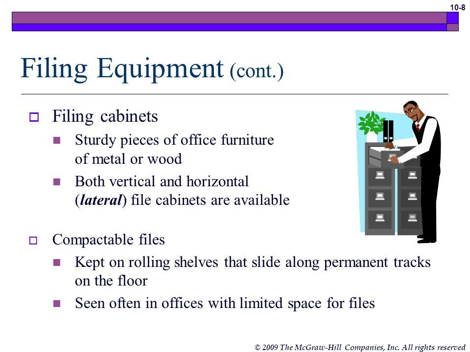 Filing Equipment (cont.)