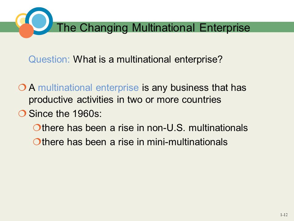 The Changing Multinational Enterprise