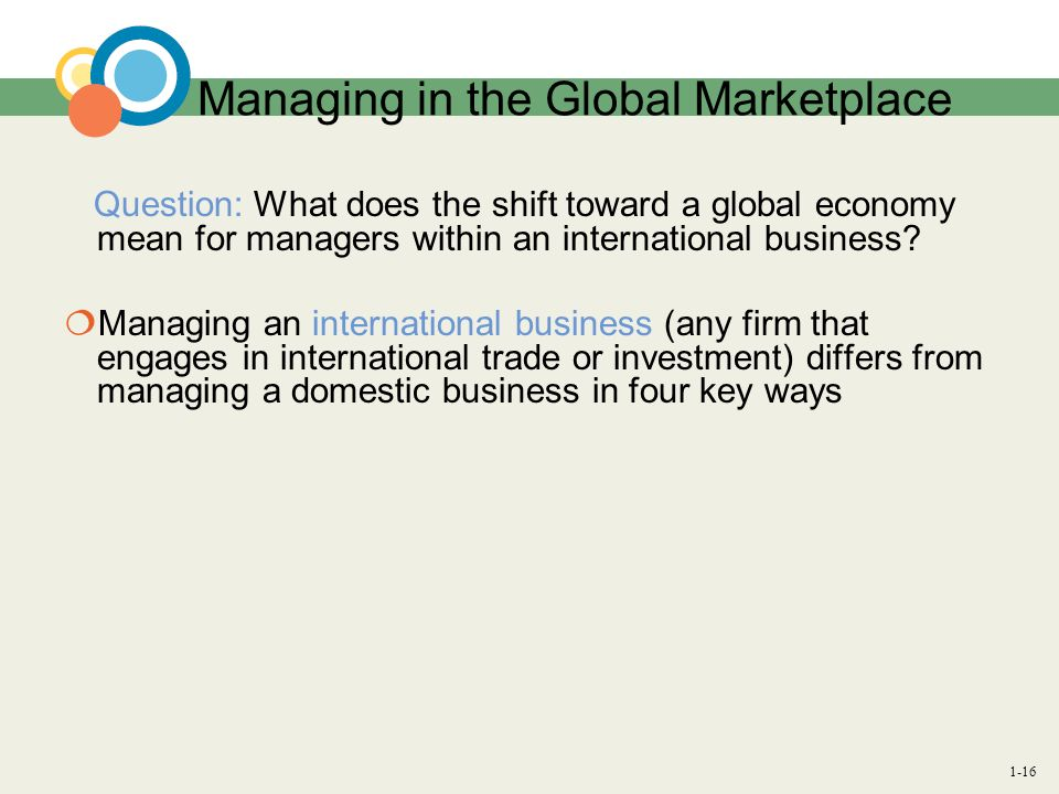 Managing in the Global Marketplace