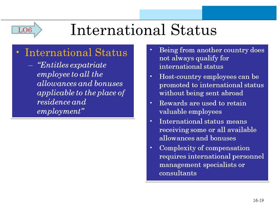 International Status International Status