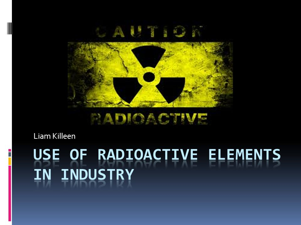 what are radioactive elements