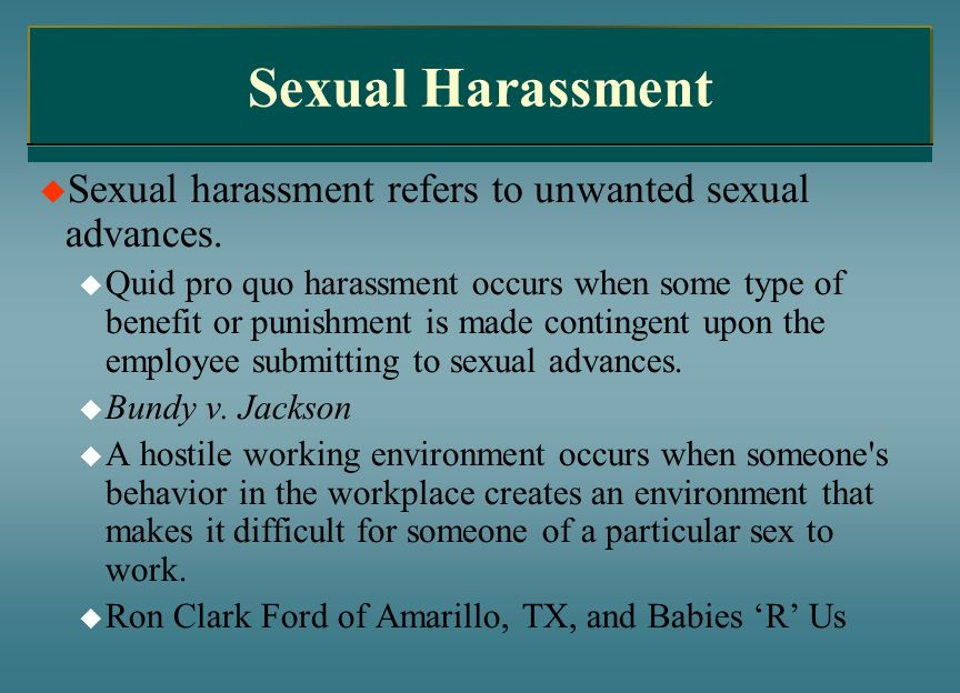 Sexual HarassmentSexual harassment refers to unwanted sexual advances.