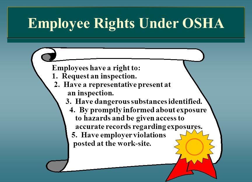 Employee Rights Under OSHA