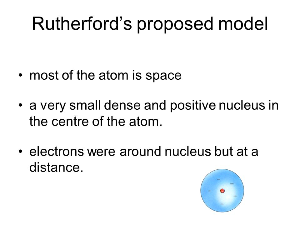 Rutherford's proposed model