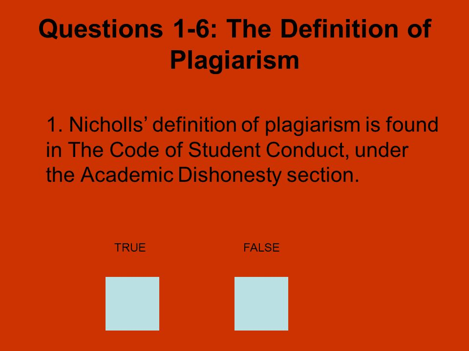 Charming Questions 1 6: The Definition Of Plagiarism