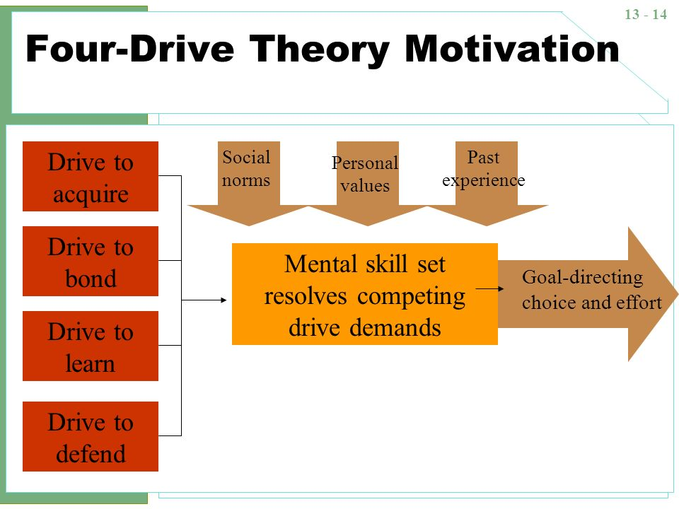 Four-Drive Theory Motivation