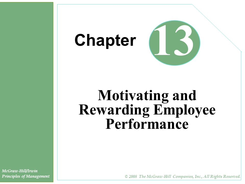 Motivating and Rewarding Employee Performance