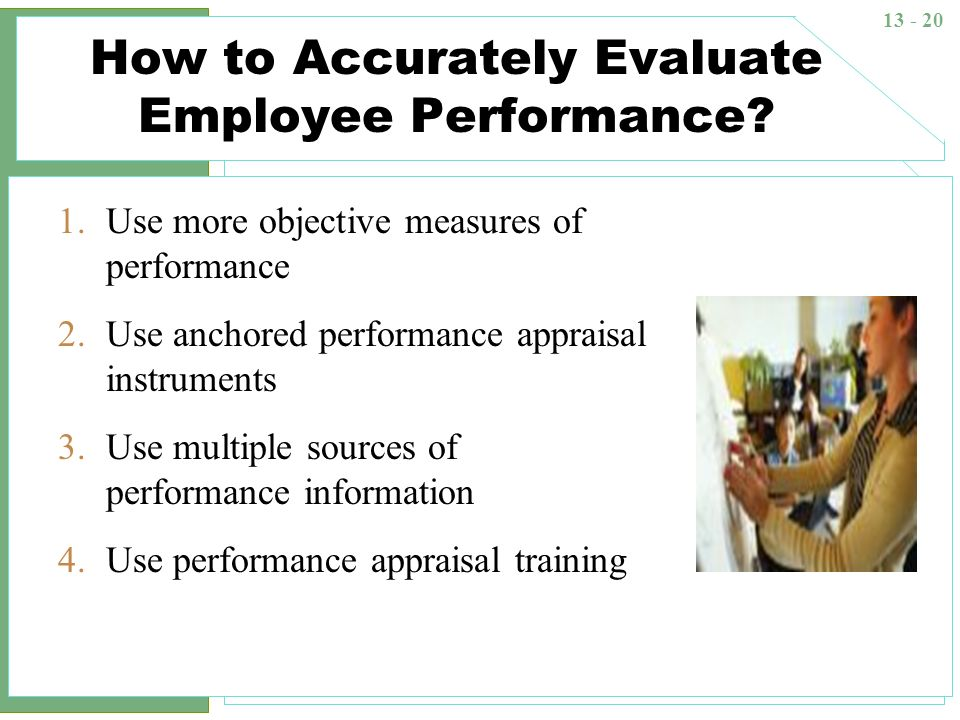 How to Accurately Evaluate Employee Performance