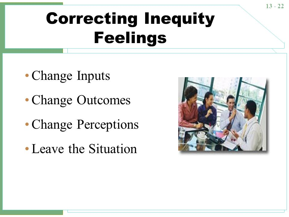 Correcting Inequity Feelings