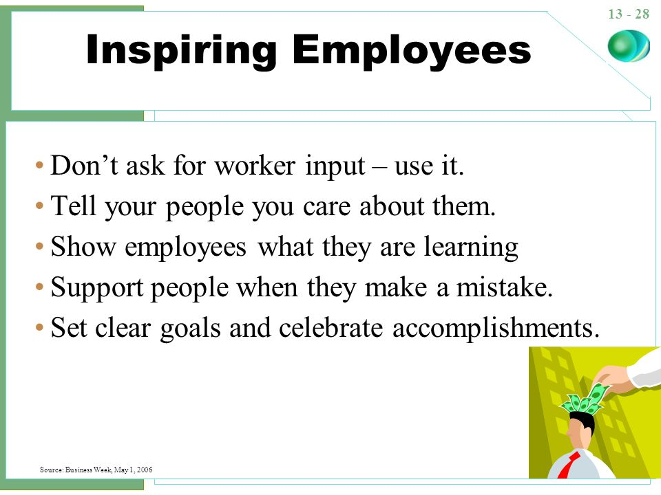Inspiring Employees Don't ask for worker input – use it.