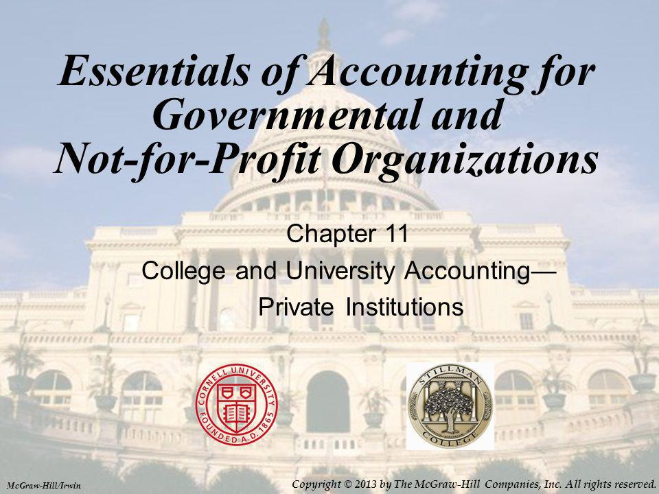 College and University Accounting—Private Institutions