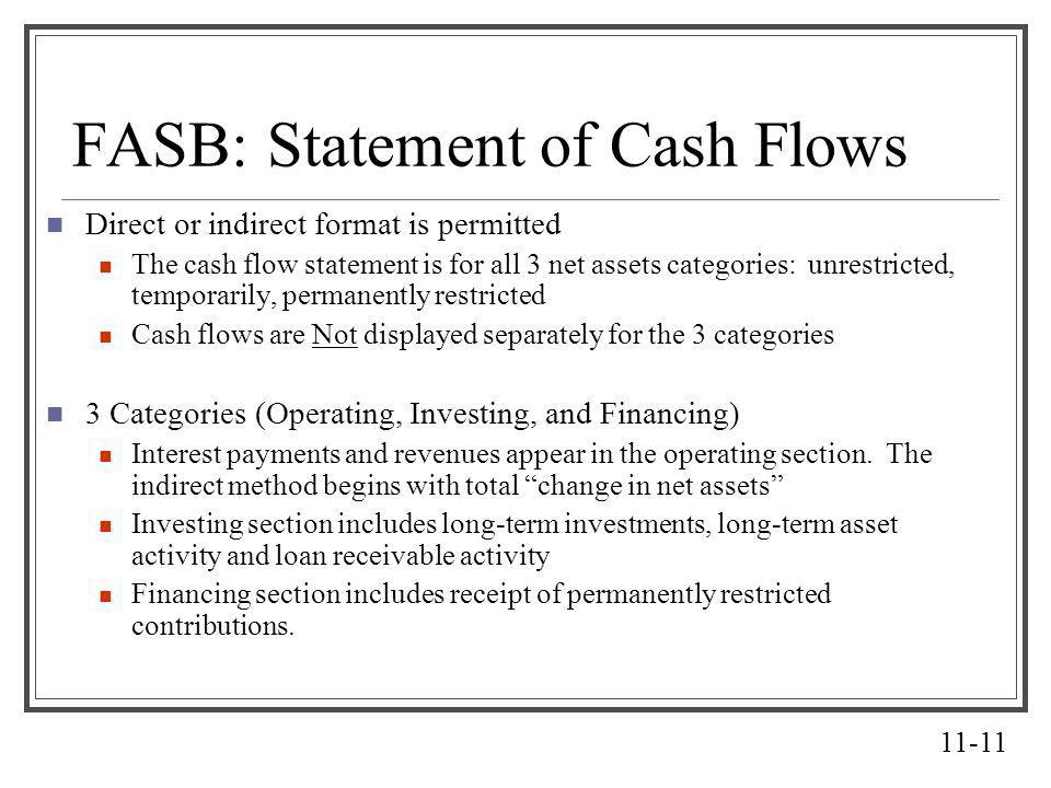 FASB: Statement of Cash Flows