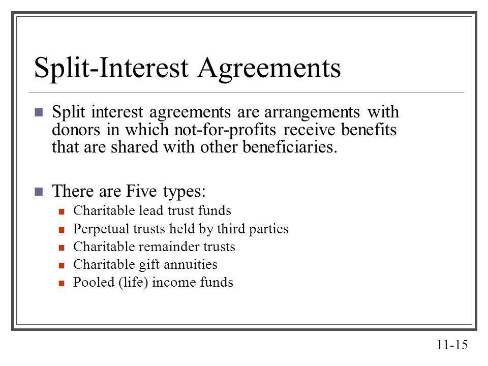 Split-Interest Agreements