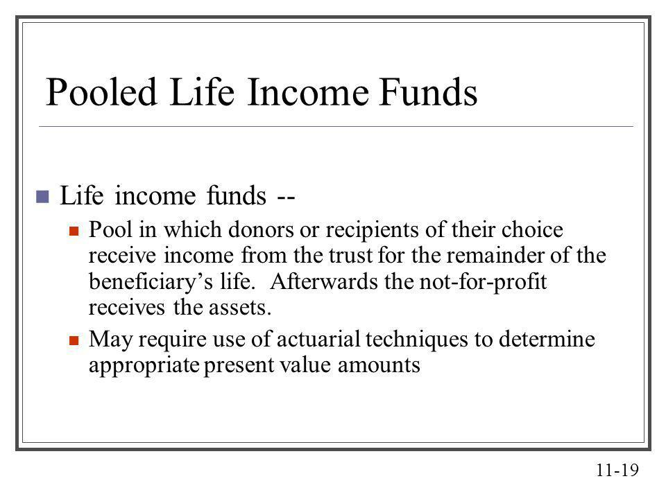 Pooled Life Income Funds