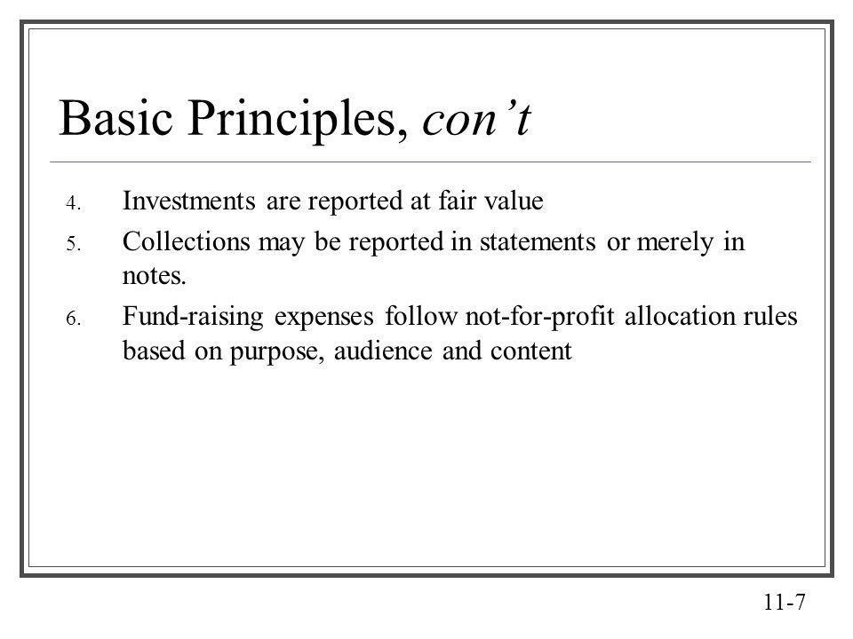 Basic Principles, con't