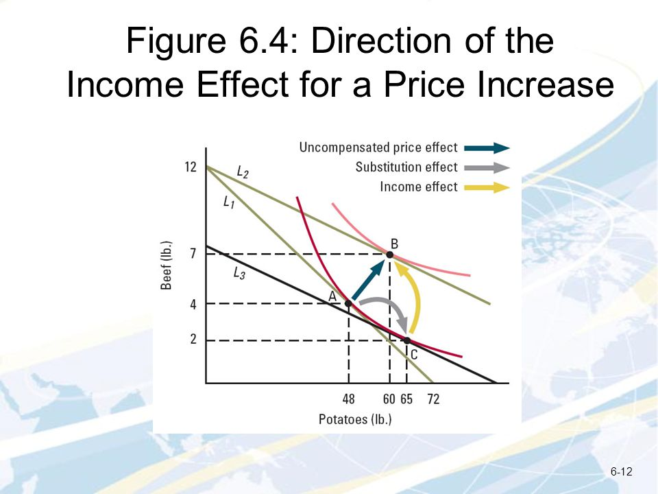 Figure 6.4: Direction of the Income Effect for a Price Increase
