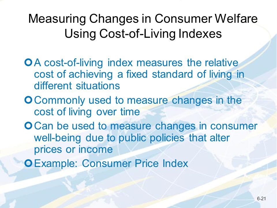 Measuring Changes in Consumer Welfare Using Cost-of-Living Indexes