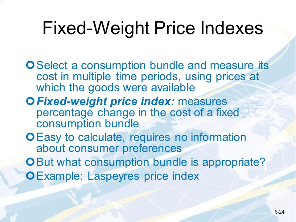 Fixed-Weight Price Indexes