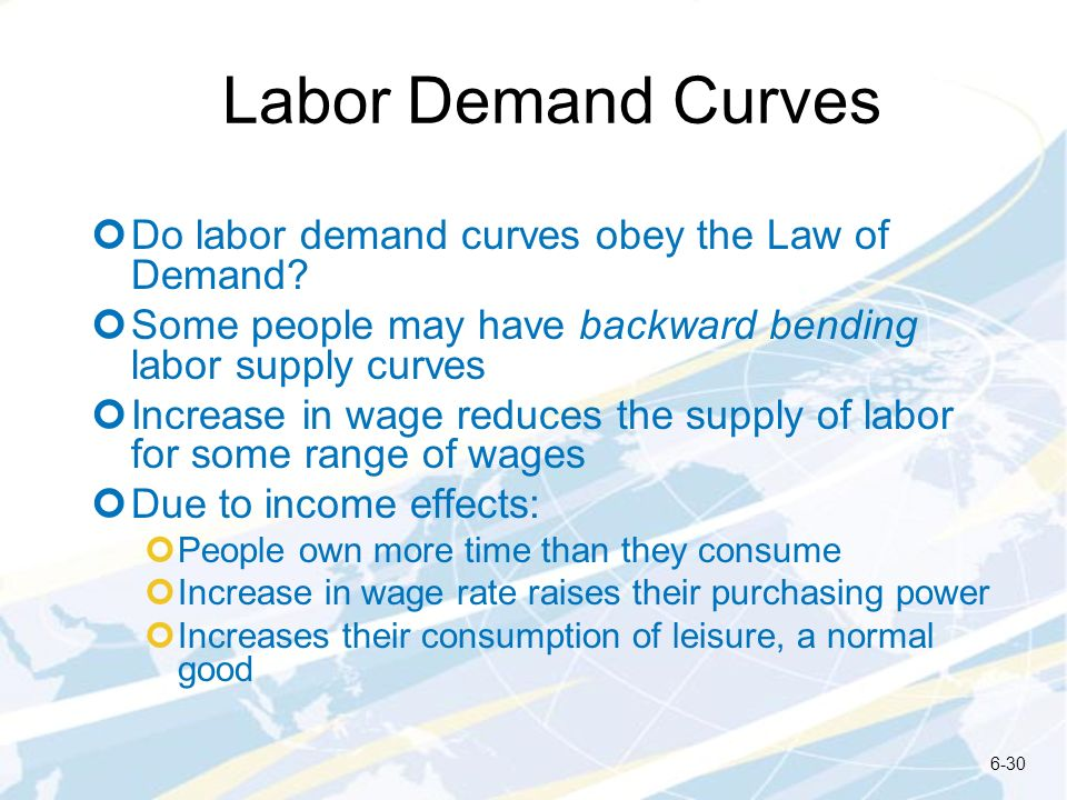 Labor Demand Curves Do labor demand curves obey the Law of Demand