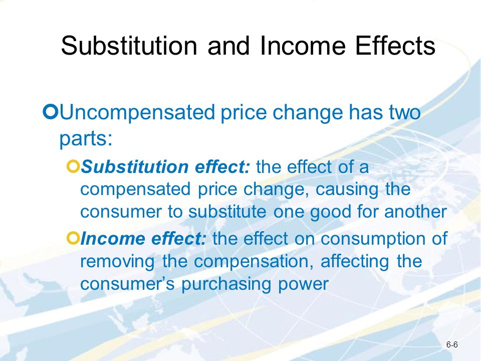 Substitution and Income Effects