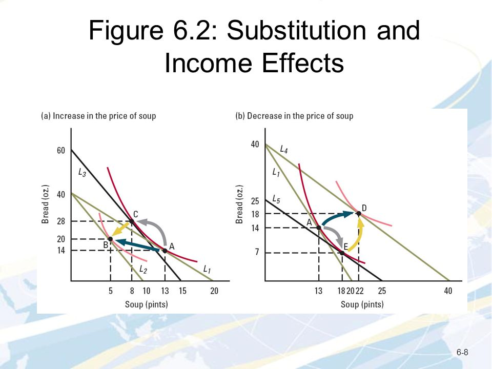 Figure 6.2: Substitution and Income Effects