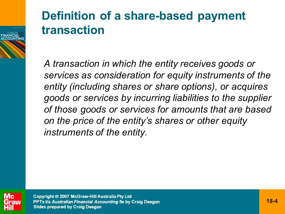 Definition of a share-based payment transaction